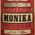 """Affiche van de Toneel- en Operetteopvoering """"Monika"""" door het  Roeselaars Lyrisch Gezelschap """"Kunst Veredelt"""", Roeselare, 1954"""