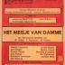 """Affiche van de Operetteopvoering """"Het meisje van Damme"""" door het  toneel- en operettegezelschap """"Kunst Veredelt"""", Roeselare, 1980"""""""