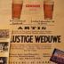 """Affiche van de Toneel- en Operetteopvoering """"De Lustige Weduwe""""  door het  Roeselaars Koninklijk Lyrisch Gezelschap """"Kunst Veredelt"""", Roeselare, 1964"""