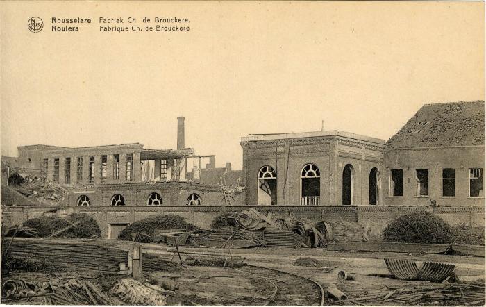 Fabriek C. de Brouckère in puin