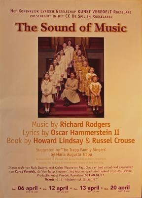 """Affiche van de Toneel- en Operetteopvoering """"The Sound of Music"""" door het  Roeselaars Lyrisch Gezelschap """"Kunst Veredelt"""", Roeselare, 2003"""