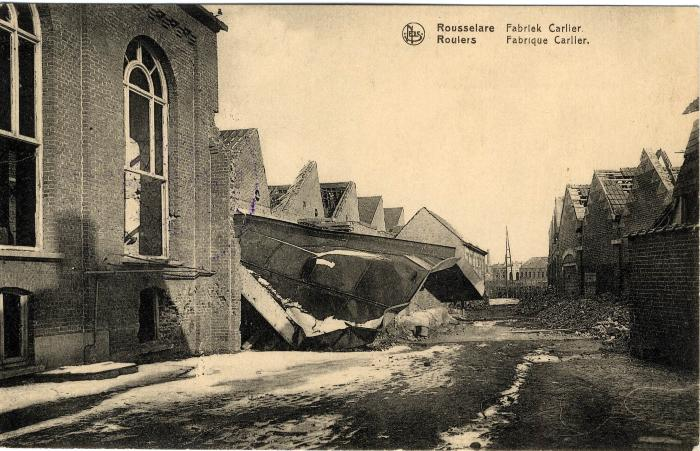 Fabriek Carlier in puin