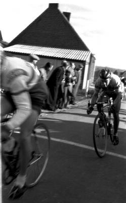 Wielerwedstrijd: renner Willy Stevens, Gits 1957