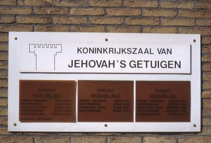 Bord Koninkrijkszaal, 1997