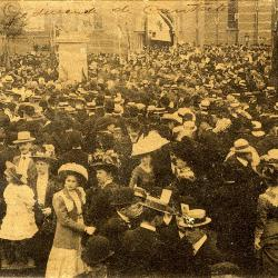 Rodenbachstoet, menigte tijdens cantate, 1909