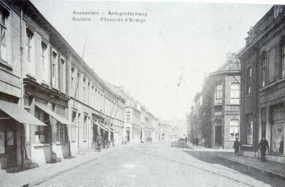 Straatzicht Ardooisesteenweg, Interbellum