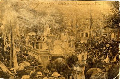 Rodenbachstoet, wagen verheerlijking kunsten, 1909