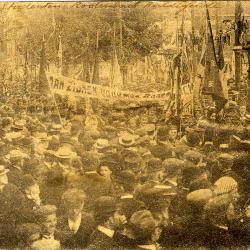 Rodenbachstoet, studenten huldigen Rodenbach, 1909
