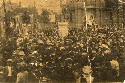 Rodenbachstoet, onthulling standbeeld, 1909