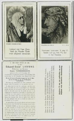 Bidprentje Eduard Emiel Lievens