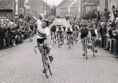Aankomst van het kampioenschap van Vlaanderen, Gits, 1967