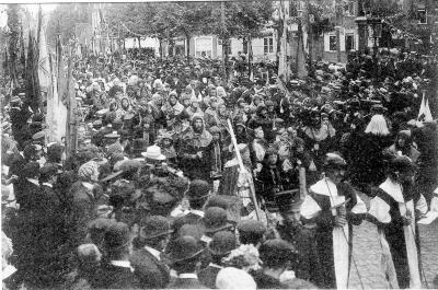 Rodenbachstoet, strijd Brugse poorters, 1909