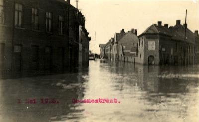 Overstroming Groenestraat, 1925