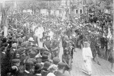 Rodenbachstoet, verheerlijking Vlaamse helden, 1909