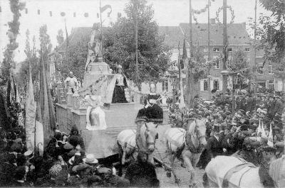 Rodenbachstoet, steden groeten Vlaanderen, 1909