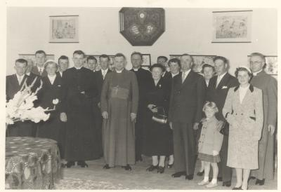 Priesterwijding van oom Christelle Dejonckheere in 1956