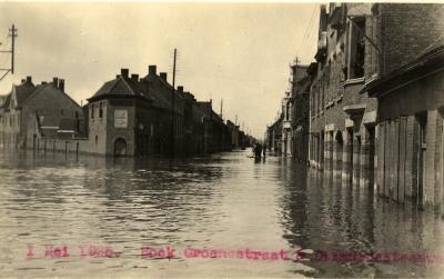 Overstroming Diksmuidsesteenweg en Karpel, 1925