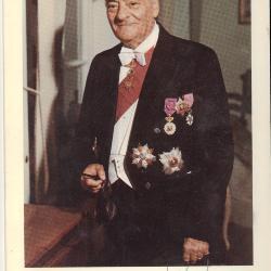 Feestmaal in 1975 ter gelegenheid van het tienjarig ambtsjubileum van R. De Man-Vande Walle als burgemeester van Roeselare