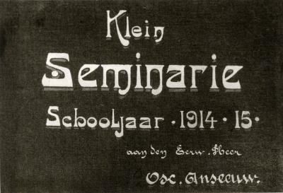 Titelblad Klein Seminarie voor het schooljaar 1914-1915