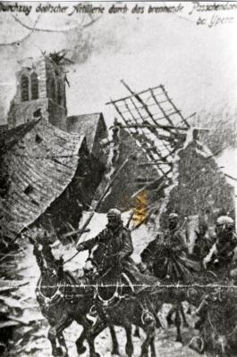 Duitse artillerie te paard
