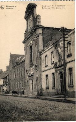 Verwoeste kerk van het Klein Seminarie