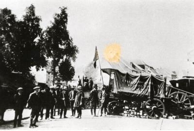 Barricade in Diest