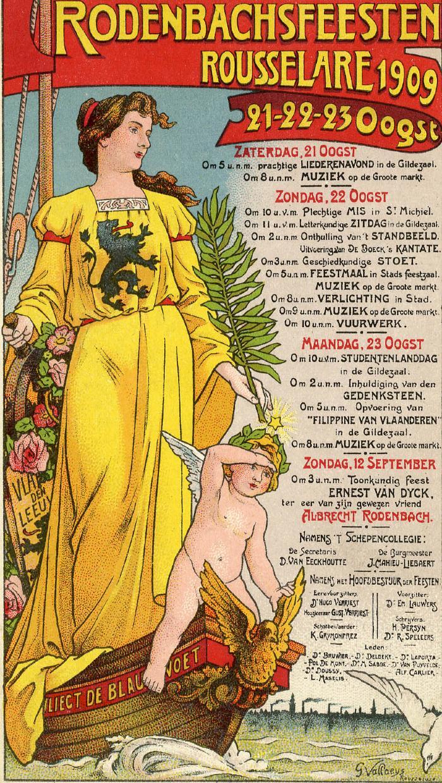 Affiche Rodenbachfeesten, 1909