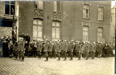brandweer tijdens bezoek koning Albert I, 1925