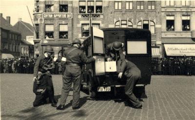 Oefening Passieve Luchtbescherming, ziekenwagen, 1938