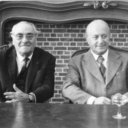 Burgemeesters Robert De Man en Albert Biesbrouck, 1977