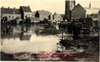 Overstroming Sint-Michielsstraat, 1925