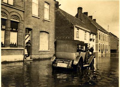 Overstroming Kattenstraat, 1925