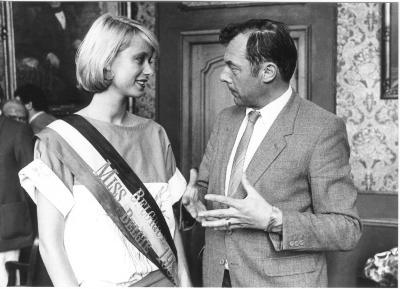 Miss België Françoise Bostoen en Daniël Denys, 1983