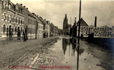 Overstroming Meensesteenweg, 1925