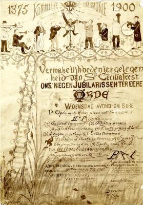 Affiche Sint-Ceciliafeest Koninklijke Stadsharmonie, 1900