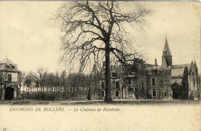 Kaasterkasteel Sterrebos met plantaan, voor 1914