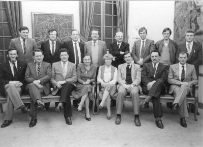 Nieuw verkozen gemeenteraadsleden, 1983