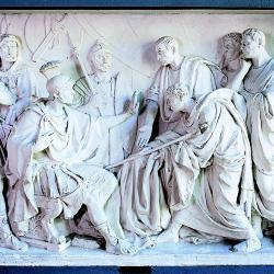 Beeldhouwwerk 'De afgevaardigden van de Senaat', Clement Carbon