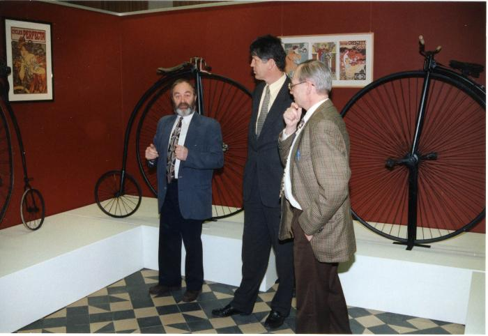 Ferdy Callewaert in nieuwe wielermuseum, 1998