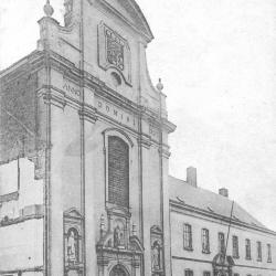 Gevel kapel Klein Seminarie, na WO I