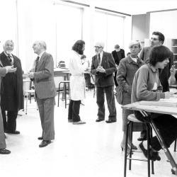 Opendeur SASK met eredirecteur Seaux, jaren 1980