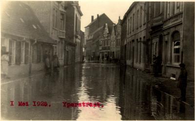 Overstroming Iepersestraat, 1925