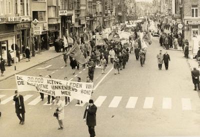 Betoging tegen verbod vogelvangst gesteund door A.Vi.Bo., 1964