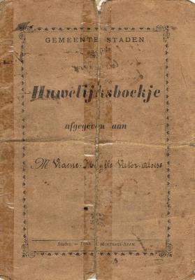 Huwelijksboekje Victor Viaene - Félicie Muylle, Staden, 1908
