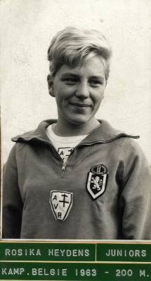 Atlete Rosika Verberckt-Heydens, 1963
