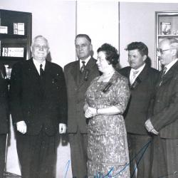 Joseph Soubry met laureaten van de Arbeid