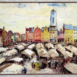 Roeselare, marktdag door Médard Verburgh
