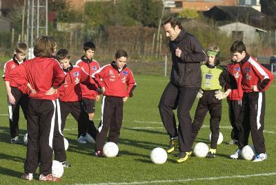 Yves Vanderhaeghe traint miniemen, 2007