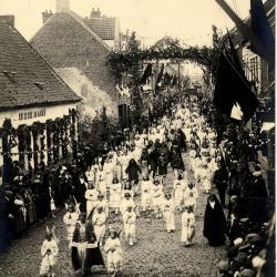 Heilig-Hartprocessie, aartsengel Michaël, 1925
