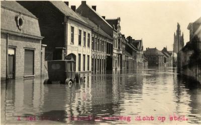 Overstroming Diksmuidsesteenweg, 1925